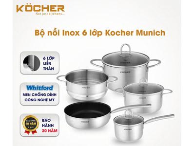 bộ nồi bếp từ Kocher